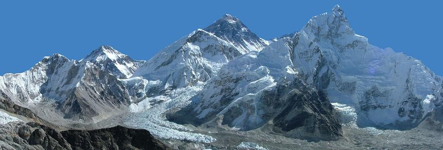 Everest in a panoramic view